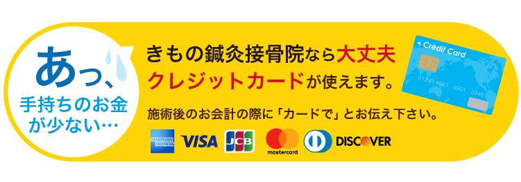 クレジットカードが使えます。